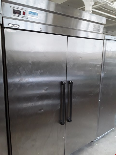 Lot 2 COMMERCIAL STAINLESS STEEL BLIZZARD DOUBLE DOOR FRIDGE