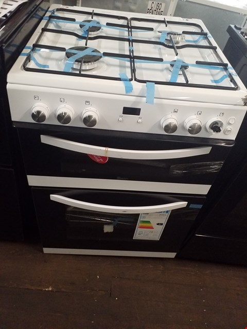 Lot 8562 SWAN DOUBLE CAVITY GAS COOKER WHITE