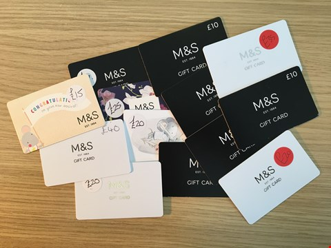 Lot 6 13 MARKS AND SPENCER VOUCHERS.  TOTAL VALUE £232