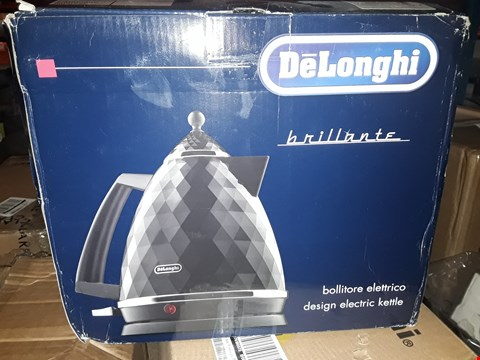 Lot 1750 GRADE 1 DELONGHI BRILLANTE BLACK KETTLE KBJ3001BK RRP £80