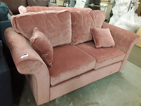 Lot 116 QUALITY HAND MADE RUSSET FABRIC 2 SEATER SOFA  RRP £1120.00