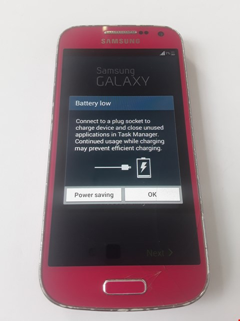 Lot 94 SAMSUNG S4 MINI PINK MOBILE PHONE