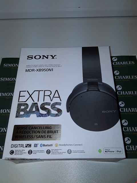 Lot 6253 SONY MDR-XB950N1B WIRELESS NOISE CANCELLING EXTRABASS HEADPHONES