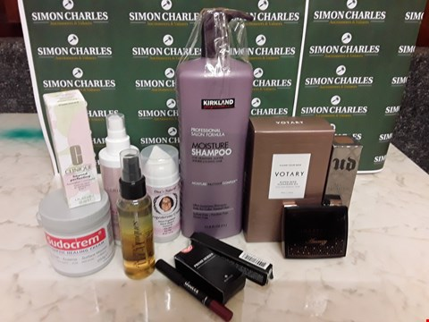 Lot 12081 CRATE OF ASSORTED BEAUTY ITEMS TO INCLUDE VOTARY, KIRKLAND AND CLINIQUE STYLES