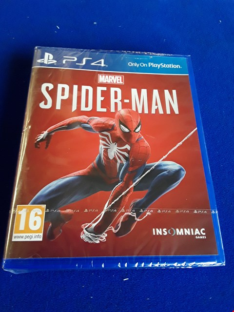 Lot 7653 MARVEL SPIDERMAN PLAYSTATION 4 GAME
