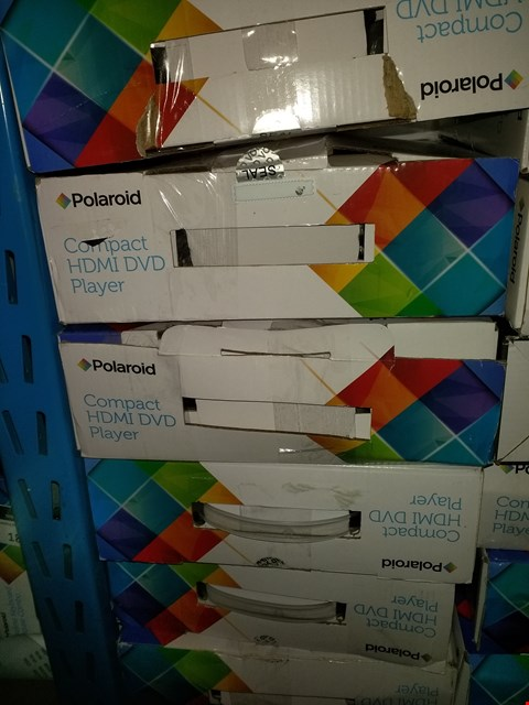 Lot 1594 LOT OF 6 POLAROID COMPACT HDMI DVD PLAYERS (CONDITION OF BOXES MAY VARY)