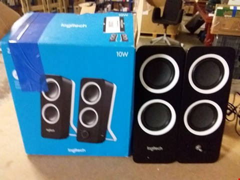 Lot 1038 LOGITECH Z200 10W STEREO SPEAKERS