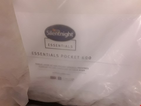 Lot 166 DESIGNER BAGGED 135CM SILENTNIGHT ESSENTIALS POCKET 600 MATTRESS