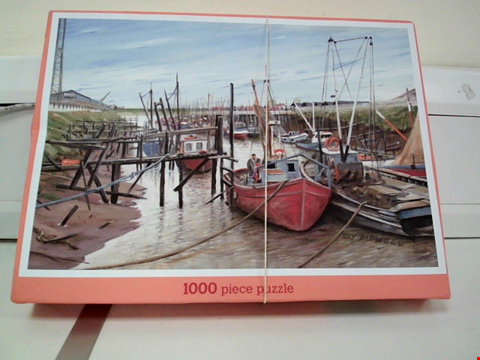 Lot 8068 JB GROVELY FISHING BOATS AT KINGS LYNN 1000 PIECE JIGSAW PUZZLE