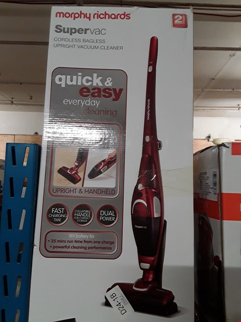 Lot 583 MORPHY RICHARDS 732005 2-IN-1 SUPERVAC CORDLESS VACUUM CLEANER