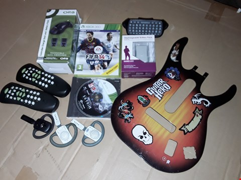Lot 183 LOT OF ASSORTED XBOX ACCESSORIES AND GAMES TO INCLUDE SKYRIM, FIFA 14 AND ORB CONTROLLER CHARGE DOCK
