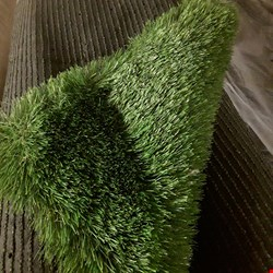 Lot 1877 LOT OF 2 AMBLESIDE GREEN GRASS 4MX3.72M AND 1MX4M (APPROXIMATE) CARPET ROLLS