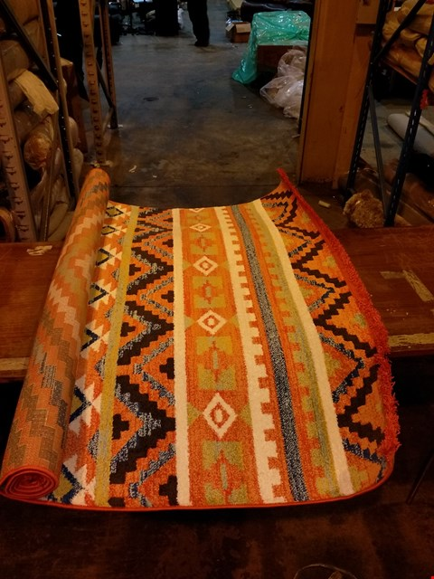 Lot 3017 DESIGNER NOURISON NAVAJO COLLECTION ORANGE RUG 160X229CM