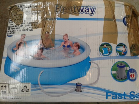 Lot 2093 BESTWAY 10FT POOL FAST SET BLUE RRP £115
