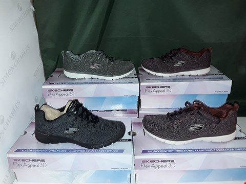 Lot 1078 LOT OF APPROXIMATELY 6 PAIRS OF ASSORTED SKETCHERS FLEX APPEAL 3.0 TRAINERS