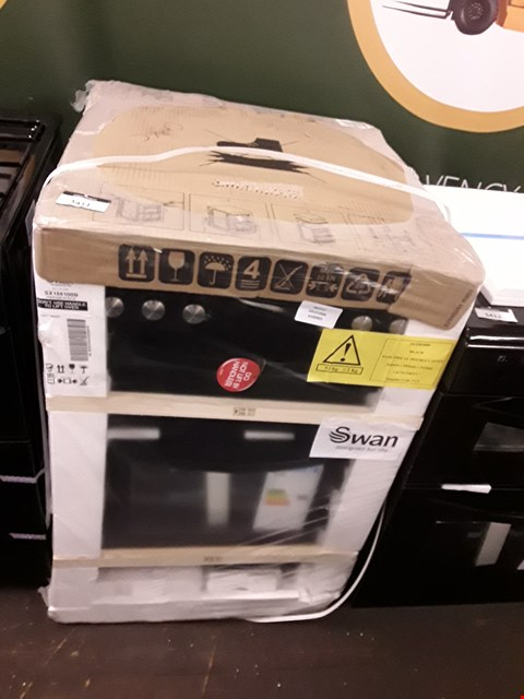 Lot 12133 SWAN SX15100B 60CM TWIN ELECTRIC COOKER BLACK RRP £300.00