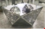 Lot 1051 BRAND NEW EXCLUSIVE DIAMOND CRUSH MIRRORED COFFEE TABLE RRP £529.00