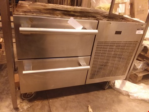Lot 4026 STAINLESS STEEL 2 DRAWER MOBILE UNIT