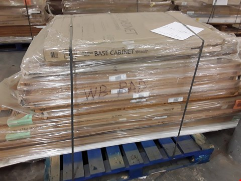 Lot 82 PALLET ASSORTED KITCHEN UNITS INCLUDING, WIDE BASE UNITS, MID HEIGHT END PANELS, TALL END PANEL'S,