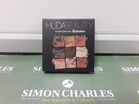 Lot 158 HUDABEAUTY WARM BROWN OBSESSIONS EYESHADOW PALETTE