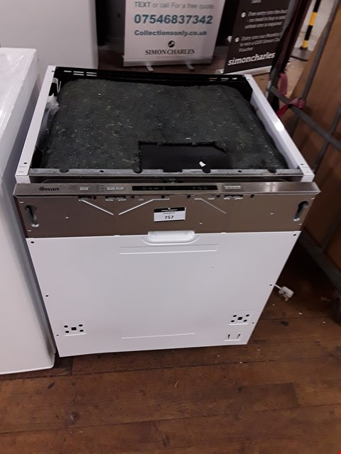 Lot 54 SWAN INTEGRATED FULL SIZE DISHWASHER