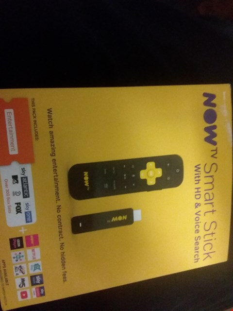 Lot 7150 NOW TV SMART STICK WITH HD & VOICE SEARCH RRP £24.99