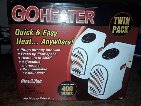 Lot 6164  BOXED GO HEATER TWIN PACK