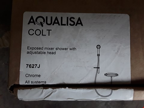 Lot 41 BOXED AQUALISA COLT EXPOSED MIXER SHOWER WITH ADJUSTABLE HEAD RRP £287