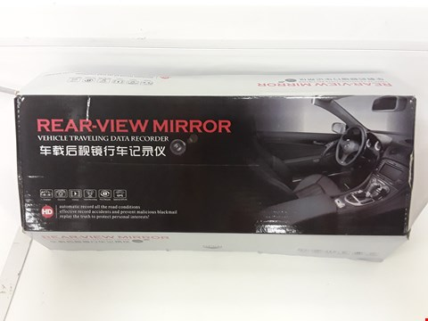 Lot 93 BOXED REAR VIEW MIRROR WITH DATA RECORDER