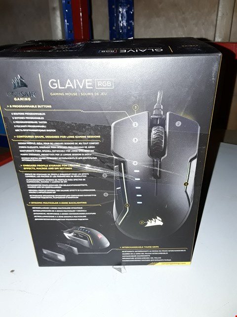 Lot 8173 CORSAIR GLAIVE RGB GAMING MOUSE