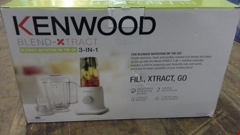 Lot 375 BOXED KENWOOD BLEND-XTRACT 3 IN 1  RRP £51.00