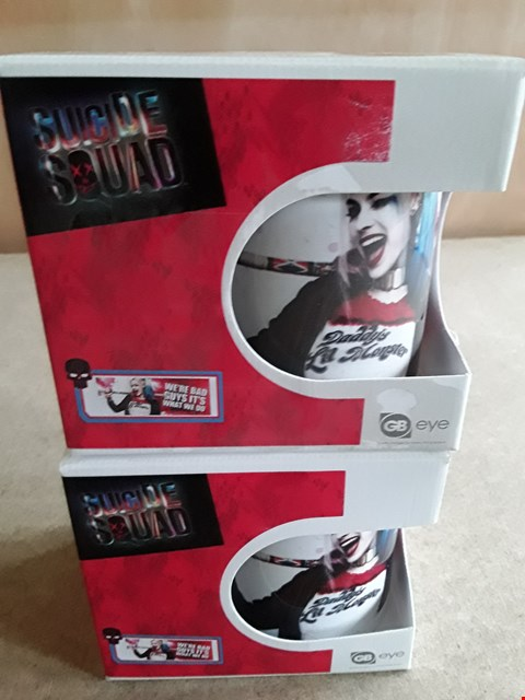 Lot 23 2 BRAND NEW BOXED SUICIDE SQUAD MUGS