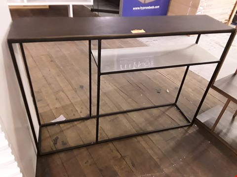 Lot 69 DESIGNER TERENCE CONRAN FERA COLLECTION CONSOLE WITH SHELF & PEBBLE CAST TOP W110 × D25 × H75 RRP £529