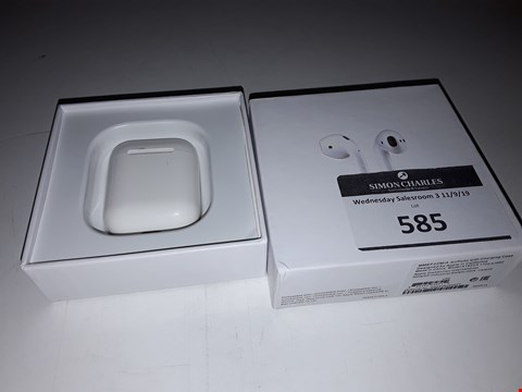 Lot 585 BOXED APPLE AIRPODS WIGH CHARGING CASE