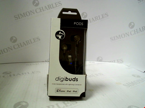 Lot 386 BRAND NEW BOOMPODS DIGIBUDS IN-EAR HEADPHONES WITH LIGHTNING CONNECTOR