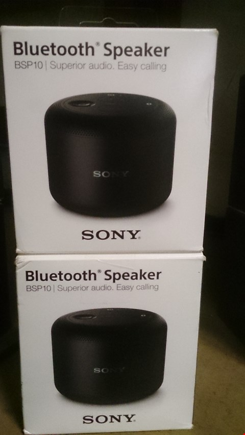 Lot 59 TWO BOXED SONY BLUETOOTH BSP10 SPEAKERS