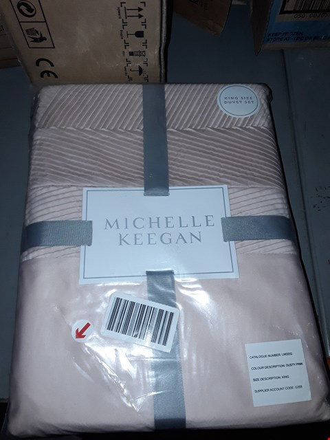 Lot 2174 ANGEL DUVET COVER SET, KING SIZE - DUSTY PINK (GRADE 1) RRP £69