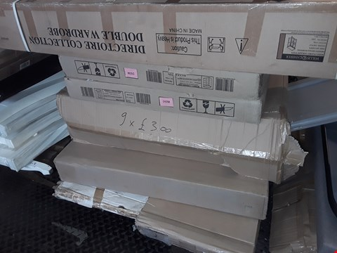 Lot 1408 PALLET OF ASSORTED FLAT PACK ITEMS TO INCLUDE NEVADA 3+2 DRAWER CHEST PARTS AND WILLIS & GAMBLER PARTS