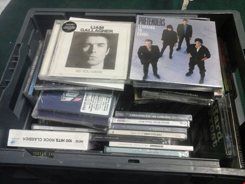 Lot 1034 1 X BOX OF APPROXIMATELY 56 ASSORTED CD/DVD INCLUDING NOW THATS WHAT I CALL CLASSIC ROCK , NIGHT FROST AND LIAM GALLAGHER AS YOU WERE