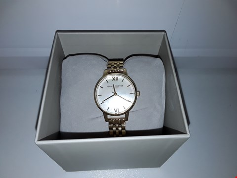 Lot 2141 OLIVIA BURTON MOTHER OF PEARL/GOLD ANALOGUE WRISTWATCH  RRP £107.00