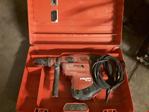 Lot 1026 HILTI TE 80 CORDED HAMMER DRILL WITH CASE