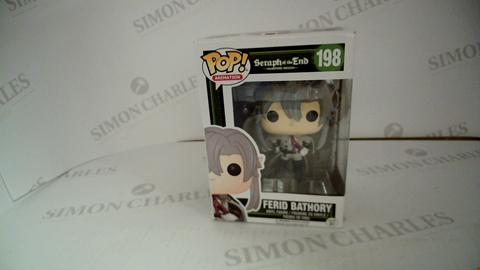 Lot 7111 BOXED POP ANIMATION SERAPH OF THE END VAMPIRE REIGN 198 FERID BATHORY VINYL FIGURE