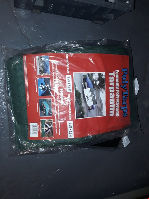 Lot 5161 APPROXIMATELY 2 TARPAULIN SIZE 3.4×5.3M