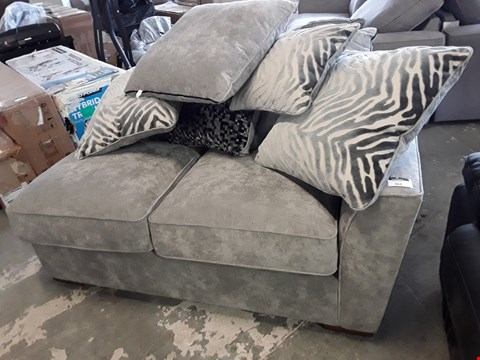 Lot 363 DESIGNER GREY FABRIC SOFA SECTION