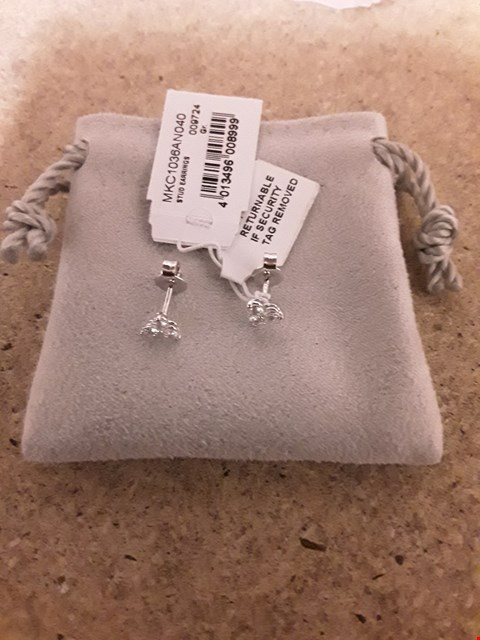 Lot 2241 MICHAEL KORS STERLING SILVER STONE STUD EARRINGS RRP £89