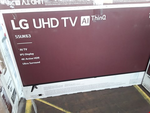 "Lot 1055 LG 55"" UHD THINQ 4K ACTIVE HDR TELEVISION MODEL 55UK6300PLB"