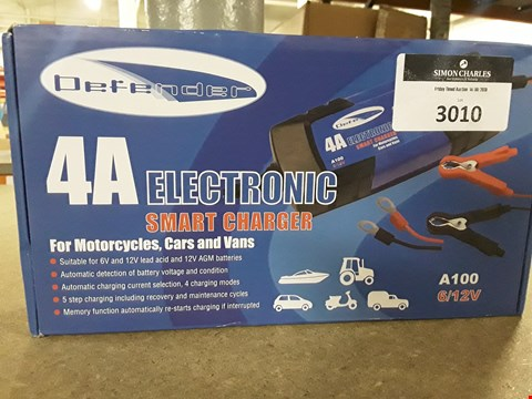 Lot 3010 DEFENDER 4A ELECTRONIC SMART BATTERY CHARGER