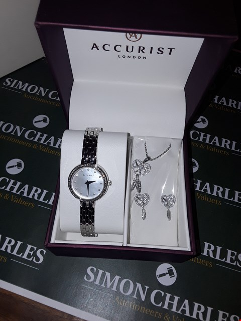 Lot 12 BOXED ACCURIST LONDON LADIES WATCH