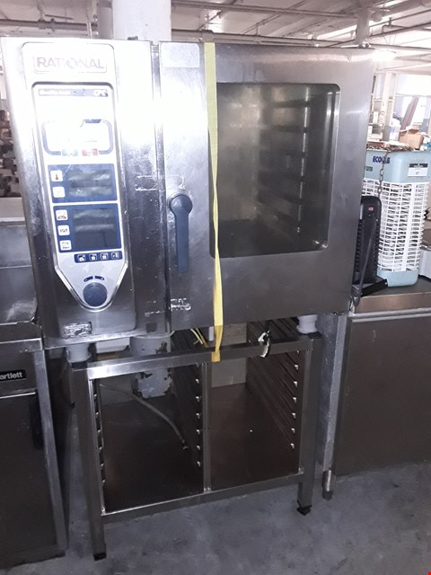 Lot 48 COMMERCIAL STAINLESS STEEL RATIONAL CLIMAPLUS ELECTRIC COMBI OVEN WITH STAND