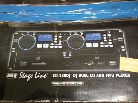 Lot 18 BOXED STAGE LINE CD-230DJ DO DUAL CD AND MP3 PLAYER